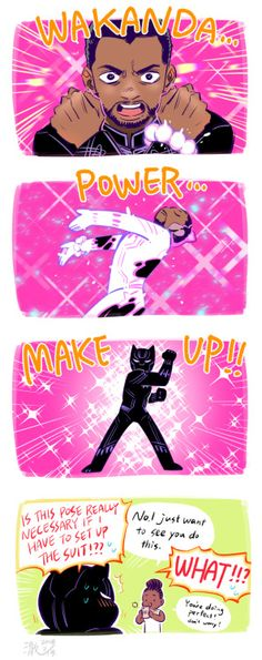 Black Panther in the style of Sailor Moon