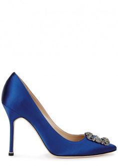 Hangisi 105 royal blue satin pumps