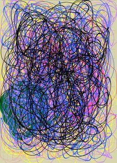 #FRACTAL NO 1  - experiment digital pen dedicated to Jackson Pollock