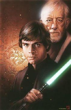 Luke Skywalker and Obi-Wan Kenobi (Old Ben)