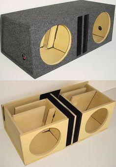 Dual 12 Transmission Line Advanced Slot Ported Sub Box Diy Subwoofer, Custom Subwoofer Box, Subwoofer Box Design, Speaker Box Diy, Speaker Plans, Speaker Box Design, Diy Speakers, Audio Box, Sub Box Design