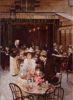 Crowded Parisian Brasserie | Peter Pappot