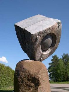 Stone Sculpture - UNCARVED BLOCK: SPHERE WITHIN