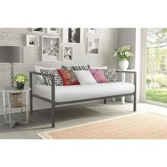 The Tribeca Metal Daybed from DHP with a contemporary design offers style and sophistication that's sure to blend in with any room decor in your home. Used as a sleeping area or relaxing area this daybed comes out a winner on all fronts.