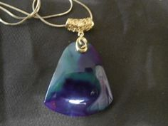 Glorious Green and Purple Botswana Agate Pendant      P-039 - Birthstones and…