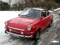 Škoda 110 R 1960s Cars, Retro Cars, Vintage Cars, Porsche, Seat Cupra, Vw Group, Old Cars, Cars And Motorcycles, Dream Cars