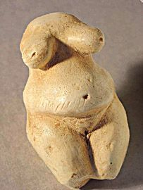 Venus of La Poire 25000 BC Brassempouy France This is a reconstruction of the fairly fractured original. Discovered in 1892 it is carved from mammoth ivory.