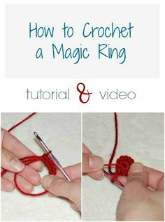 How to crochet a magic ring . easy method for starting in the round Learning how to crochet a magic ring can really improve the look of projects that are worked in the round. Video and photos to guide you through . Crochet Crafts, Crochet Projects, Free Crochet, Knit Crochet, Crochet Tutorials, Crochet Round, Crochet Daisy, Crochet Ideas, Crochet Stitches