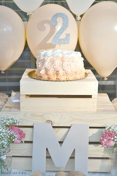 Project Nursery - Peach Ombre Birthday Cake