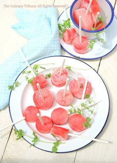 Vodka infused watermelon popsicles.  Because adults need to cool off too.