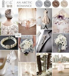 Silver grey and cream ~ perfect for a winter wedding
