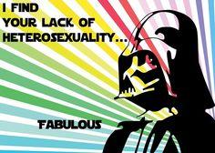 Star Wars e gays: que a força e a tolerância esteja com você.    http://www.avidasecreta.com.br/star-wars-e-gays-que-a-forca-e-a-tolerancia-esteja-com-voce/  O novo jogo Guerra nas Estrelas, Star Wars: The Old Republic incluirá relacionamentos gays e gera polêmica com conservadores.