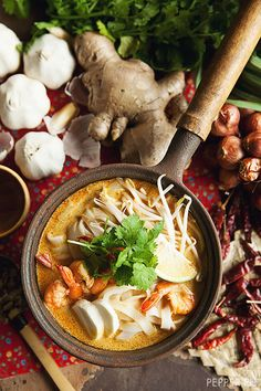 Caution: This Laksa Can Turn You into a Fire-Breathing Dragon Asian Recipes, Healthy Recipes, Ethnic Recipes, Laksa Soup, Curry Laksa, Soup Recipes, Cooking Recipes, Asian Soup, Singapore Food