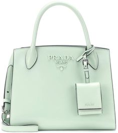26445d78f23f Prada Monochrome leather tote  greentotepurse