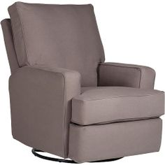 Colton Gray Fabric Modern Nursery Swivel Glider Recliner