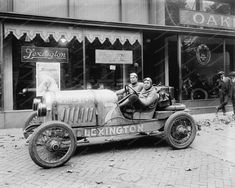 Lexington Old Style Racing Car Vintage 8x10 Reprint Of Old Photo