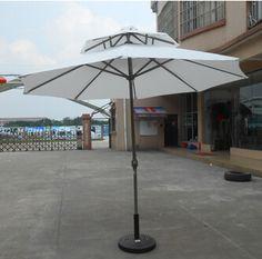 Double Layer Aluminum Parasol       Specification:2.7m double layer parasol     Specification:3m double layer parasol