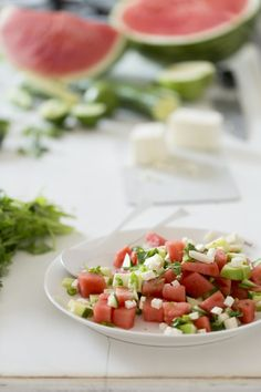 Food in Motion: Watermelon Salad