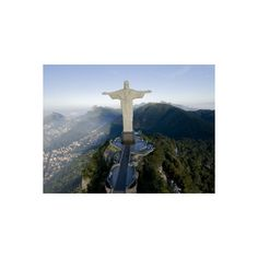 Christ the Redeemer Statue Above Rio De Janeiro Photographic Wall Art... (32 CAD) ❤ liked on Polyvore featuring home, home decor, wall art, cristo redentor statue, wall statues, christ the redeemer statue, photographic wall art and interior wall decor