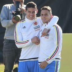 James and Santi Copa America Chile 2015
