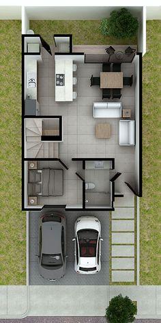 2bhk House Plan, Model House Plan, Duplex House Plans, Small House Plans, Small House Layout, House Layout Plans, House Layouts, Narrow House Designs, Modern Small House Design