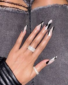 25 Most Impressive Ombre Black Long Acrylic Coffin Nails: Create Your Best . - 25 Most Impressive Ombre Black Long Acrylic Coffin Nails: Make Your Best Impression Today # fashion - Nail Art Designs, Long Nail Designs, Acrylic Nail Designs, Different Nail Designs, Nail Swag, Ballerina Nails, Best Acrylic Nails, Dope Nails, Nagel Gel