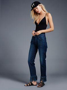 Fringe Cropped Jean