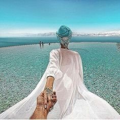 the Dead Sea in the amazing Jordan. 30 April 2014 (the pic of the photo series by Russian Photographer, Murad Osmann) Murad Osmann, Dead Sea, Travel Couple, Follow Me, Girlfriends, Wanderlust, Around The Worlds, The Incredibles, In This Moment