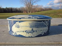 Older Droste Holland Metal Biscuit Tin Nautical Windmill , Boats, Sheep, R6T3 #Droste