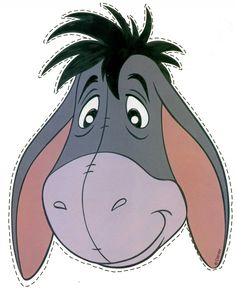 Downloadable Printable Eeyore Mask