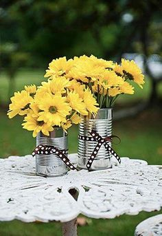 Trendy wedding decorations on a budget centerpieces tin cans ideas Glamorous Wedding, Chic Wedding, Trendy Wedding, Rustic Wedding, Our Wedding, Wedding Ideas, Brunch Wedding, Budget Wedding, Fall Wedding