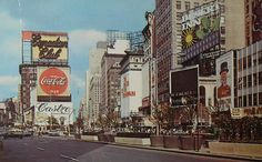 1968 Times Square NYC vintage photo