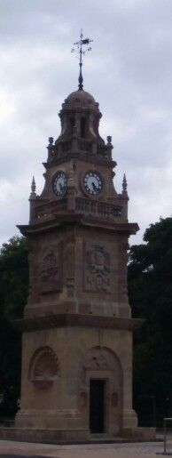 Clock Tower that has recently had a restoration makeover. By the boat in between South and North Marine Park in South Shields
