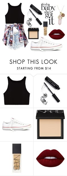 """""""Outfit 128"""" by sarahcb2002 on Polyvore featuring Bobbi Brown Cosmetics, Converse, NARS Cosmetics, Lime Crime and Dee Berkley"""