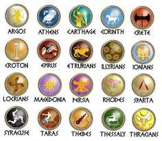 ancient Greek shield insignia