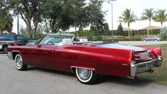1969 Cadillac Deville Convertible Cadillac Ct6, Cadillac Eldorado, Cars 2017, Leather Seats, Cruise Control, Red Paint, Fuel Injection, Automatic Transmission, Cutaway