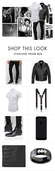 """Ootd [ Andy ]"" by believe-in-you-always ❤ liked on Polyvore featuring Boohoo, Yves Saint Laurent, Express, Base London, Alexander McQueen, men's fashion and menswear"