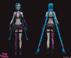 Jinx, the loose cannon, Tits WIP - Page 5 - Polycount Forum
