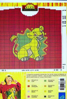 Simba Lion King intarsia sweater pattern Knits4Kids