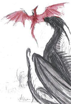 Shruikan teaches Thorn by Mistyczna on DeviantArt Murtagh Eragon, Eragon Fan Art, Skyrim, Inheritance Cycle, Christopher Paolini, Sisters Book, Dragon Series, Legendary Creature, Statues