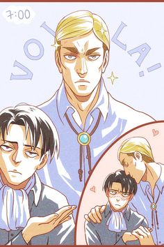 """aileine: """" """"From Mess To Class"""" by Levi. I wanted to draw this for the Eruri week's first day theme """"Clean Up!"""" but I'M TOO SLOW. Levi X Petra, Levi And Erwin, Attack On Titan Ships, Attack On Titan Anime, Connie Springer, Captain Levi, Aizawa Shouta, Eruri, Best Waifu"""