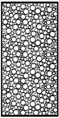 "Jumbled Circles Black 1/4"" x 96"" x 48"" Standard Panel"