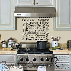 Kitchen Art Kitchen Decal  Cooking Methods by RoyceLaneCreations, $12.00