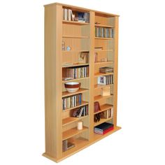Buy Maximus Oak CD and DVD Media Storage Unit at Argos. Thousands of products for same day delivery or fast store collection. Dvd Storage Shelves, Media Storage Unit, Storage Rack, Tall Cabinet Storage, Home Office Cabinets, Adjustable Shelving, Multimedia, Home Decor, Shelf