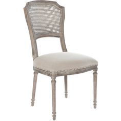 Aidan Gray Furniture Chelsea Dining Chair Set of 2 found on Polyvore featuring home, furniture, chairs, dining chairs, transitional furniture, set of two chairs, nailhead trim dining chair, pair chairs and nailhead chair