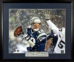 """Tom Brady New England Patriots """"Snow Game"""" 11x14 Photograph (SGA Signature Series) Framed"""