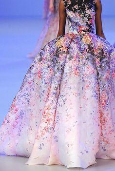 This is a fairytale princess dress if I ever saw one! - Elie Saab Haute Couture S/S 2014