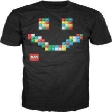 Lego Happy Face Mens Black Tee  #LEGO #T-Shirt #Adult $24.00 Lego Store, Lego For Kids, Lego Design, Lego Movie, Legoland, Legos, Happy, Mens Tops, Shirts