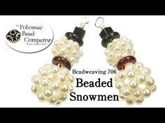 ▶ How to Make Beaded Snowmen (Beadweaving 706) - YouTube free tutorial from The Potomac Bead Company www.potomacbeads.com Buy Online: www.thebeadco.com