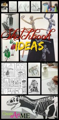 Sketchbook Ideas, Sketchbook Assignments for Middle School Art and High School Art Students. Also for Adults who want to spark some creativity into their drawings